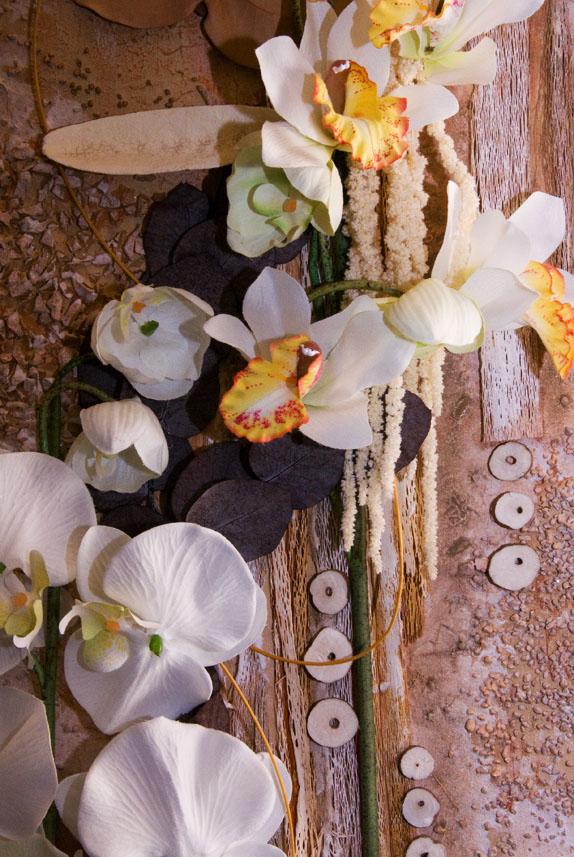 коллаж флористика панно цветы орхидея кемерово витрина