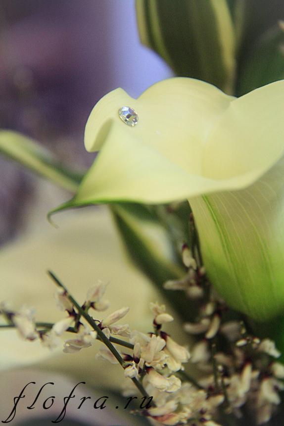 аранжировка кемерово флористика дизайн белое цветы букет каллы