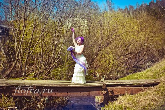конкурс букет невеста цветы фиолетовый кемерово цвет стиль день невест