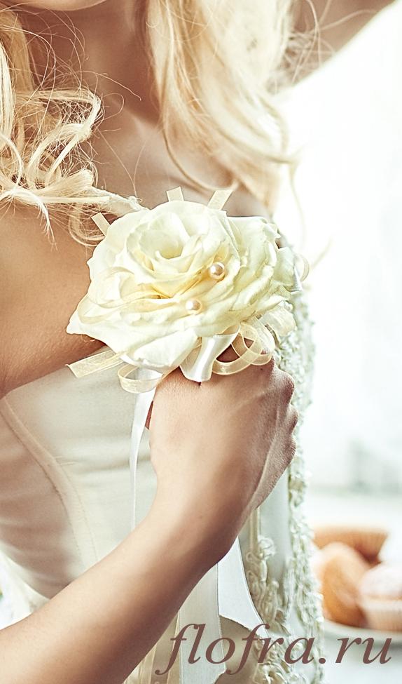 букет невесты свадебный украшение на руку кемерово в причёску браслет