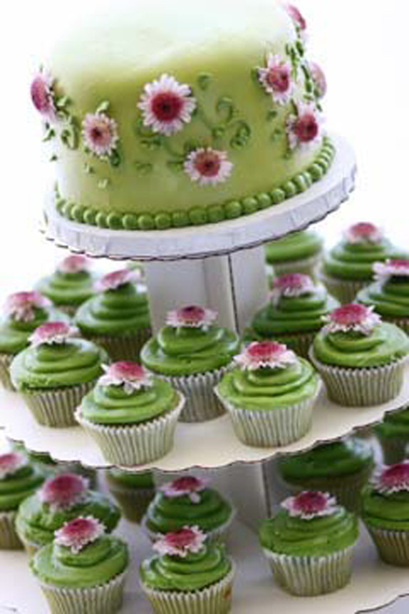 Green Tea & Cupcakes layered