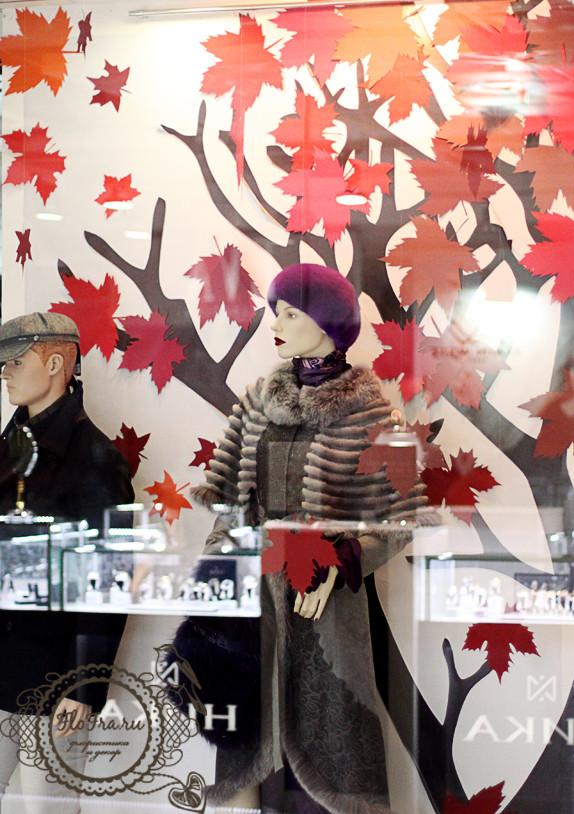 витрина магазина на заказ кемерово оформление  сезонная www.flofra.ru.jpg 10