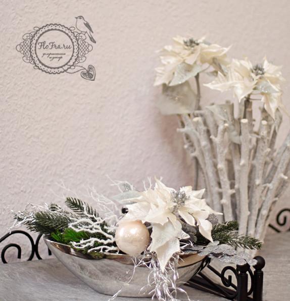 серебрянное украшение новогоднее цветы композиция аранжировка флористика дизайн кемерово www.flofra.ru.jpg 3