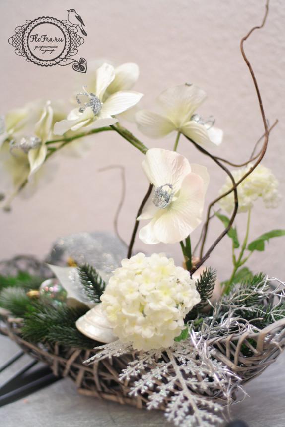 цветочное украшение новый год витрина магалин подарок презент дизайн аранжировка цветы флористика www.flofra.ru.jpg 3