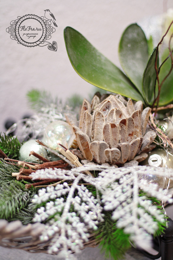 цветочное украшение новый год витрина магалин подарок презент дизайн аранжировка цветы флористика www.flofra.ru.jpg 5