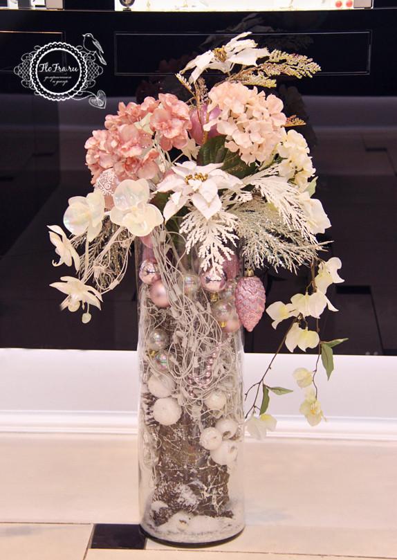 витрина новый год украшение дизайн флористика цветы кемерово дизайн интерьер ваза www.flofra.ru.jpg 7