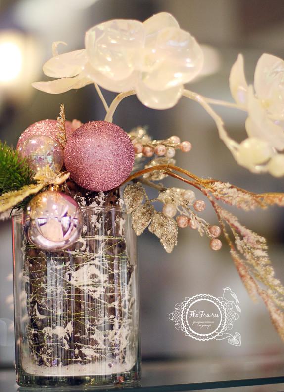 витрина новый год украшение дизайн флористика цветы кемерово дизайн интерьер ваза www.flofra.ru.jpg 8