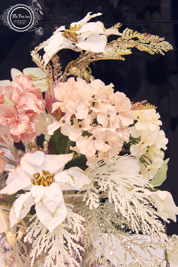 витрина новый год украшение дизайн флористика цветы кемерово дизайн интерьер ваза www.flofra.ru.jpg  9