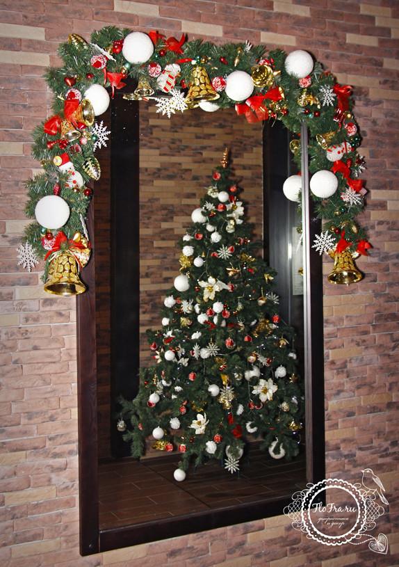 украшение новый год ресторана кафе кемерово комплексное дизайн декор флористика www.flofra.ru.jpg 14