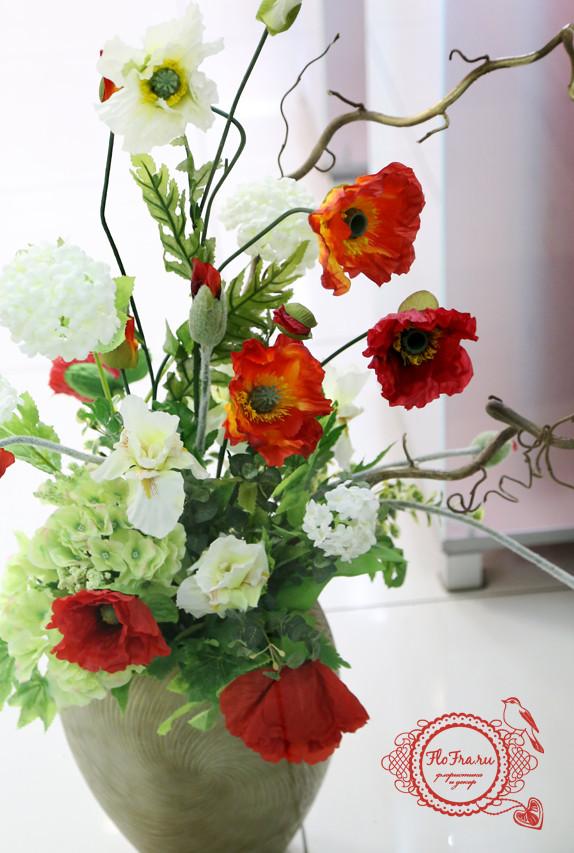 маки композиции флористические аранжировка кемерово украшение витрины оформление дизайн www.flofra.ru.jpg 6