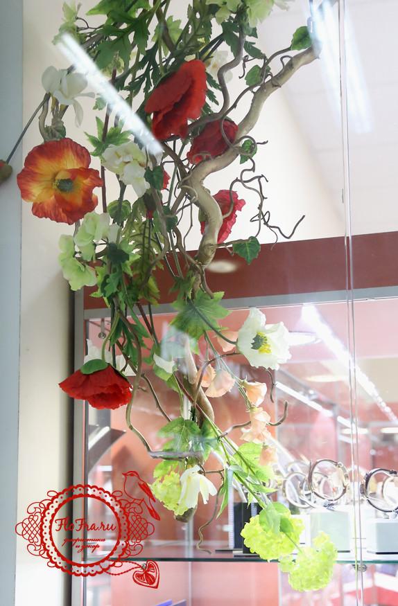 маки композиции флористические аранжировка кемерово украшение витрины оформление дизайн www.flofra.ru.jpg 7
