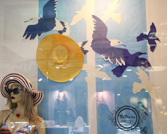 декор витрина флористика дизайн кемерово бумага цветы птицы на заказ www.flofra.ru оформление украшение.jpg 3