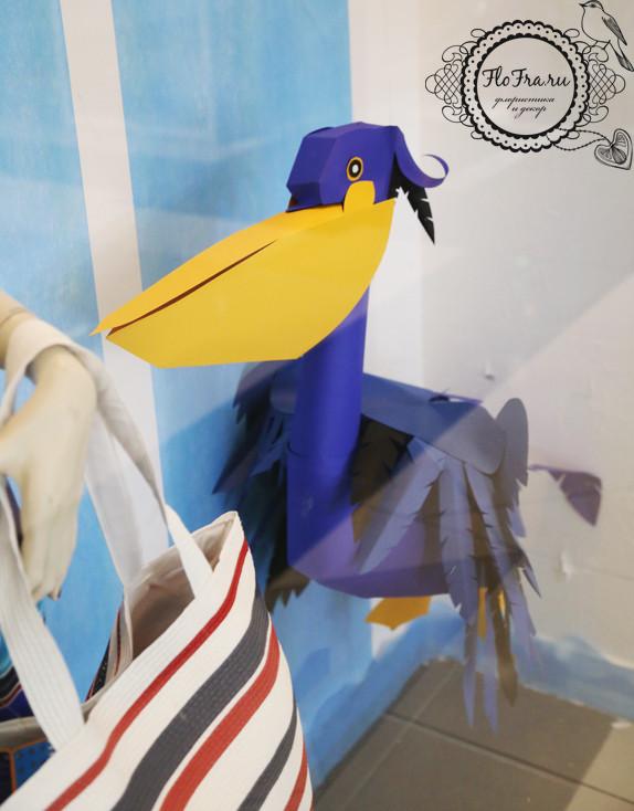 декор витрина флористика дизайн кемерово бумага цветы птицы на заказ www.flofra.ru оформление украшение.jpg 4