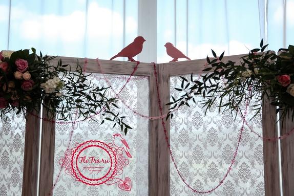 свадьбы тематическая украшение цветы флористика декор дизайн кемерово птичья www.flofra.r3
