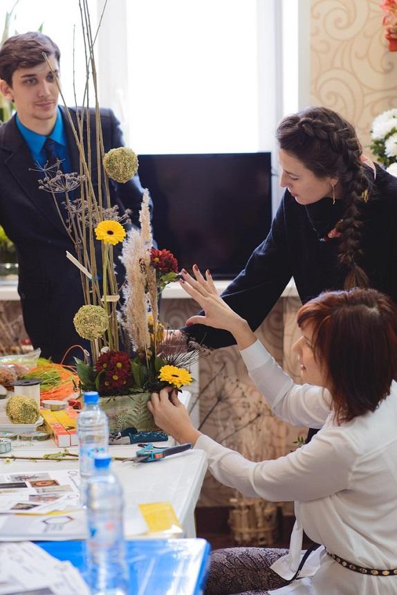 обучение уроки мастер класс по флористику уроки цветы обучение в кемерово www. flofra.ru семинар колористика теория  обучение в кемерово