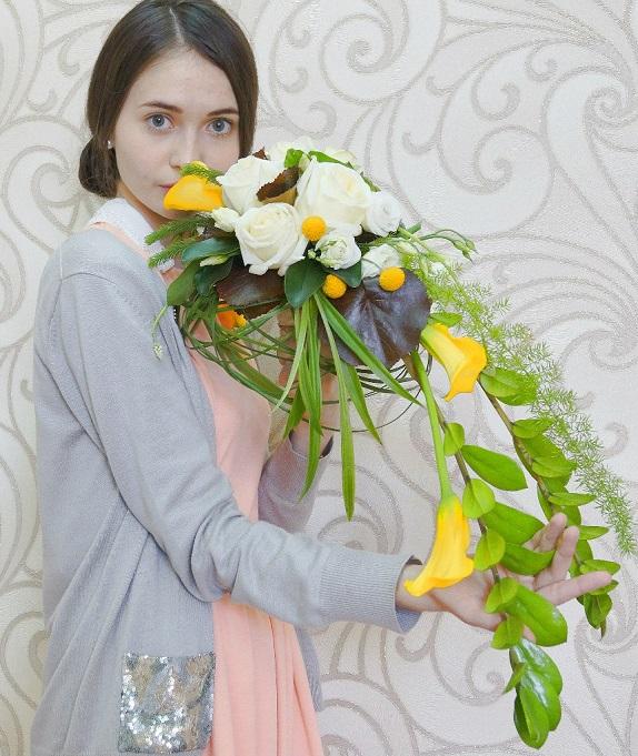 """Мастер-класс """"Свадебная флористика"""". Букет-растрепыш. Работы учеников. """" Блог Флориста, Кемерово, цветы, букеты, композиции, кол"""