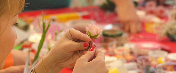 цветочное украшение причёски мастер-класс обучение Кемерово свадьба флористика цветы 12 - копия