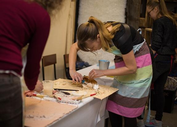 обучение флористики Кемерово цвты декор дизайн коллаж терра кузбасс мастер-класс по коллажам www.flofra.ru2