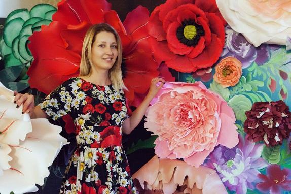 курс по гигантским цветам Кемерово витрина вадьба фотозона украшение ростовыми цветами флористика цветы www.flofra.ru 25