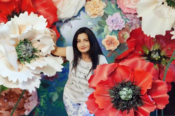 курс по гигантским цветам Кемерово витрина вадьба фотозона украшение ростовыми цветами флористика цветы www.flofra.ru 33