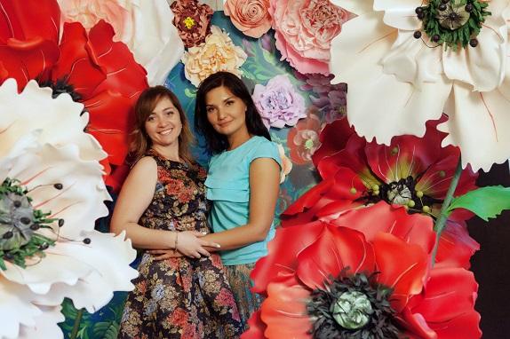 курс по гигантским цветам Кемерово витрина вадьба фотозона украшение ростовыми цветами флористика цветы www.flofra.ru 41