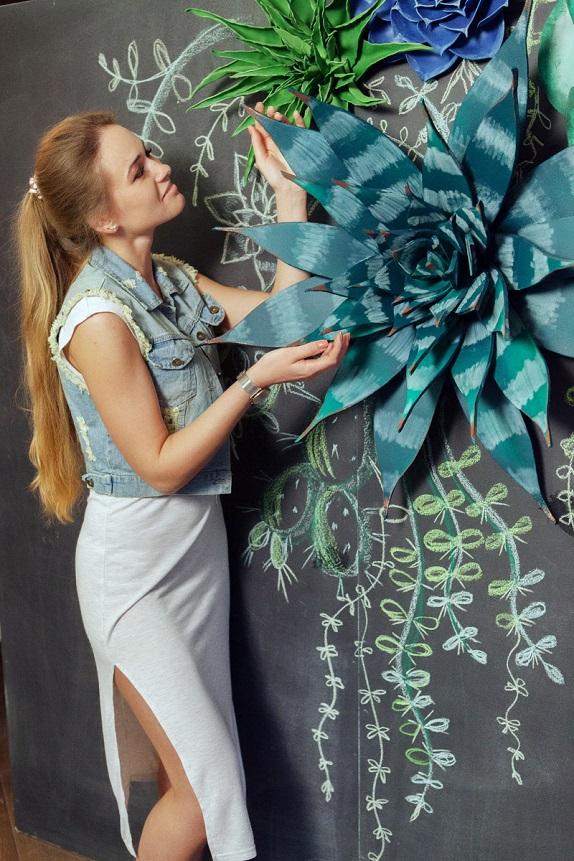 курс по гигантским цветам Кемерово витрина вадьба фотозона украшение ростовыми цветами флористика цветы www.flofra.ru 47