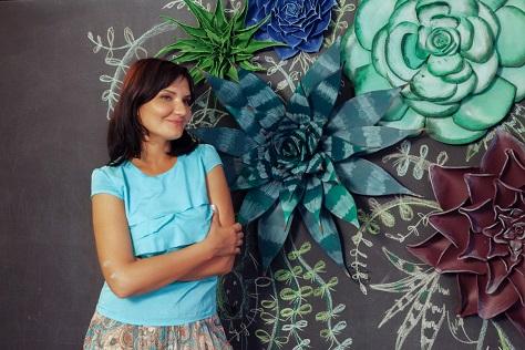 курс по гигантским цветам Кемерово витрина вадьба фотозона украшение ростовыми цветами флористика цветы www.flofra.ru 52